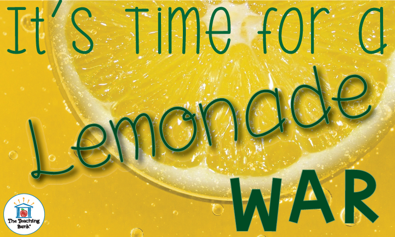 "Juicy Lemon with title, ""It's time for a Lemonade War."""
