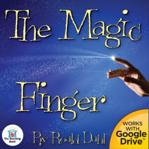 Finger with stars and magic emotting with The magic Finger title that is compatible with Google Drive
