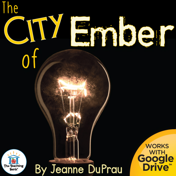 Lightbulb with The City of Ember title that is compatible with Google Drive