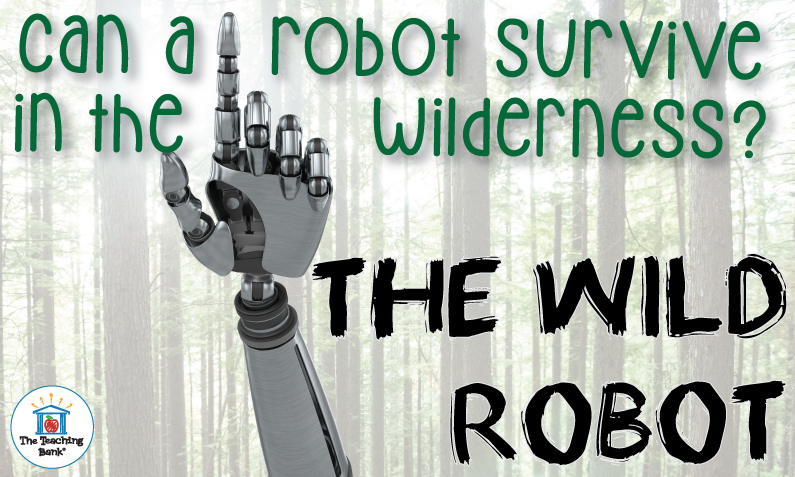 Robot hand pointing in the forest