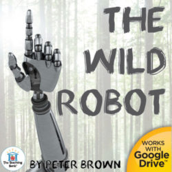 Robot hand in a forest